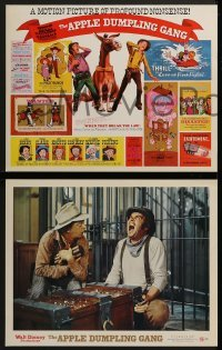 2x474 APPLE DUMPLING GANG 8 LCs 1975 Disney, wacky images of Don Knotts & Tim Conway, includes TC!