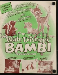 2x551 BAMBI pressbook R1957 Walt Disney cartoon deer classic, great images with Thumper & Flower!