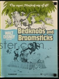 2x552 BEDKNOBS & BROOMSTICKS pressbook 1971 Walt Disney, Angela Lansbury, great cartoon art!