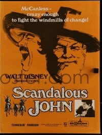 2x241 SCANDALOUS JOHN pressbook 1971 Brian Keith is crazy enough to fight windmills of change!