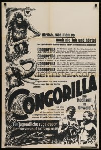 2y014 CONGORILLA Austrian 1932 Osa & Martin Johnson in Africa, cool different jungle animal art!