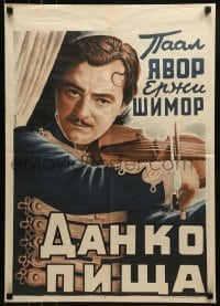 2y003 DANKO PISTA Bulgarian 1941 cool different art of Pal Javor in the title role!