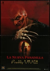 2y018 NEW NIGHTMARE Colombian poster 1994 great different art of Robert Englund as Freddy Kruger!