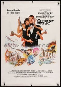 2y038 OCTOPUSSY Dutch 1983 art of sexy Maud Adams & Roger Moore as James Bond by Goozee!