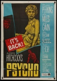 2y004 PSYCHO Egyptian poster R1960s Janet Leigh, Anthony Perkins, Alfred Hitchcock classic!