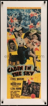 2z976 CABIN IN THE SKY 15x34 REPRO poster 1980s Lena Horne, Rochester & Ethel Waters!