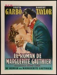 2z977 CAMILLE 16x21 Belgian REPRO poster 1990s Robert Taylor is Greta Garbo's new leading man!