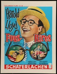 2z982 FUNNY SIDE OF LIFE 16x21 Belgian REPRO poster 1990s great wacky artwork of Harold Lloyd!