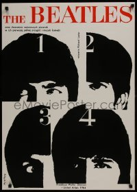 2z988 HARD DAY'S NIGHT 24x34 English REPRO poster 1990s The Beatles in their first film!