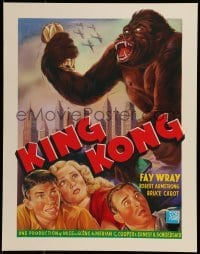 2z992 KING KONG 16x20 Belgian REPRO poster 1990s Fay Wray, Robert Armstrong & the giant ape!