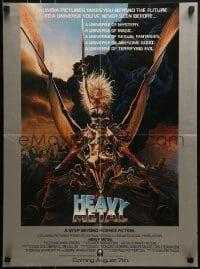 2z693 HEAVY METAL advance 18x25 special poster 1981 classic musical animation, Chris Achilleos fantasy art