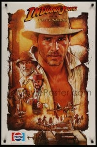 2z704 INDIANA JONES & THE LAST CRUSADE 23x35 special poster 1989 Harrison Ford by Drew, Pepsi!