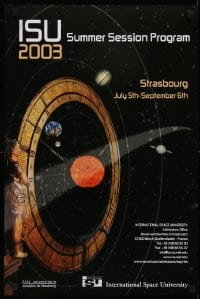 2z711 INTERNATIONAL SPACE UNIVERSITY 16x24 special poster 2003 ISU, France, cool artwork!
