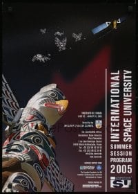 2z718 INTERNATIONAL SPACE UNIVERSITY 17x24 special poster 2005 ISU, France, cool artwork!