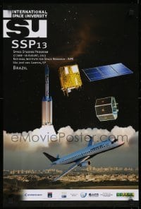 2z715 INTERNATIONAL SPACE UNIVERSITY 16x24 special poster 2013 ISU, France, cool artwork!