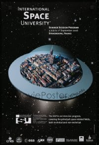 2z708 INTERNATIONAL SPACE UNIVERSITY 16x24 French special poster 2006 ISU, English, cool artwork!