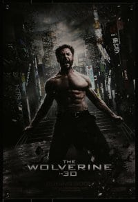 2z971 WOLVERINE foil int'l mini poster 2013 barechested Hugh Jackman kneeling w/ claws out!
