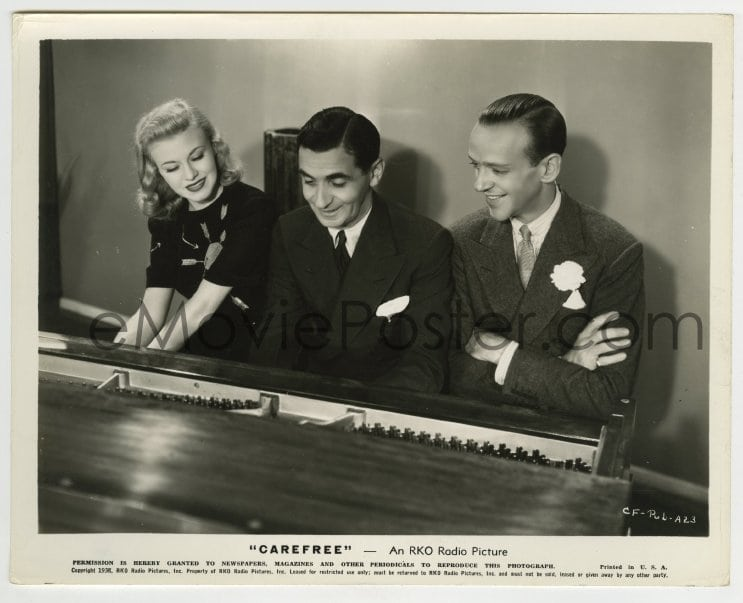 Emovieposter Com 3m260 Carefree Candid 8x10 Still 1938 Ginger Rogers Fred Astaire With Irving Berlin At Piano