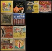 3s016 LOT OF 10 33 1/3 RPM MOVIE SOUNDTRACK RECORDS 1950s music from a variety of movies!