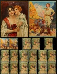 3s007 LOT OF 19 13X20 ART PRINTS 1930s The Girl of the Golden West, Bright Eyes & more!
