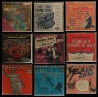 3s017 LOT OF 9 45 RPM RECORDS 1950s soundtrack music from a variety of different movies!