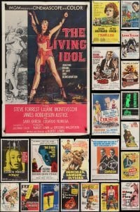 3s068 LOT OF 45 FOLDED ONE-SHEETS 1950s-1960s great images from a variety of different movies!