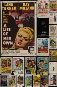 3s070 LOT OF 39 FOLDED ONE-SHEETS 1950s-1970s great images from a variety of different movies!