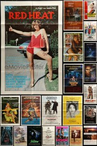3s041 LOT OF 80 FOLDED ONE-SHEETS 1970s-1990s great images from a variety of different movies!