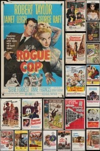 3s044 LOT OF 76 FOLDED ONE-SHEETS 1950s-1970s great images from a variety of different movies!