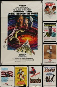 3s080 LOT OF 10 FOLDED ONE-SHEETS 1970s-1980s great images from a variety of different movies!