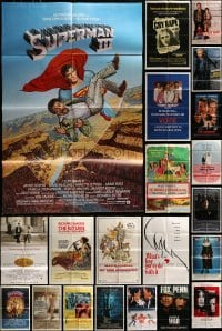 3s061 LOT OF 53 FOLDED ONE-SHEETS 1970s-1990s great images from a variety of different movies!