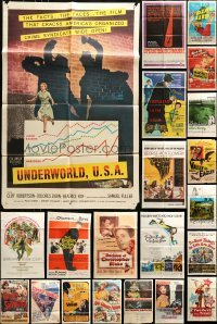 3s040 LOT OF 81 FOLDED ONE-SHEETS 1940s-1970s great images from a variety of different movies!