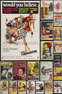 3s066 LOT OF 47 FOLDED ONE-SHEETS 1950s-1960s great images from a variety of different movies!