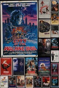 3s063 LOT OF 50 FOLDED ONE-SHEETS 1980s-1990s great images from a variety of different movies!