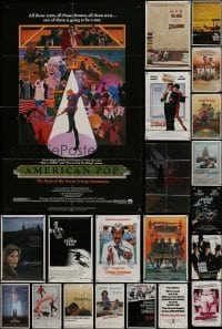 3s032 LOT OF 91 FOLDED ONE-SHEETS 1970s-1990s great images from a variety of different movies!