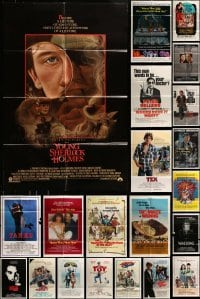3s060 LOT OF 54 FOLDED ONE-SHEETS 1970s-1980s great images from a variety of different movies!