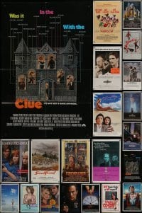 3s037 LOT OF 83 FOLDED ONE-SHEETS 1980s-2000s great images from a variety of different movies!