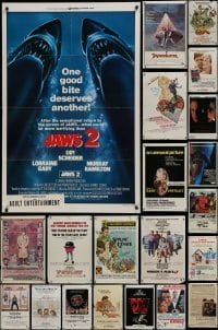 3s023 LOT OF 135 FOLDED ONE-SHEETS 1960s-1980s great images from a variety of different movies!