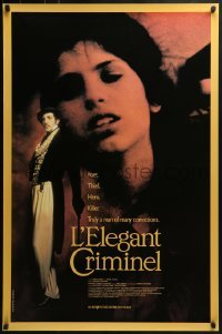 3t026 ELEGANT CRIMINAL Canadian 1sh 1990 Francis Girod's Lacenaire, top cast, completely different!