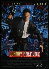 3t028 JOHNNY MNEMONIC Canadian 1sh 1995 Keanu Reeves, Dolph Lundgren, Dian Meyer, Ice-T, Kitano