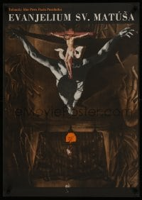 3t016 GOSPEL ACCORDING TO ST. MATTHEW Czech 23x32 1967 Il Vangelo secondo Matteo, Vyletal art!