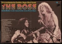3t003 ROSE East German 16x23 1981 different Bette Midler, unofficial Joplin biography!