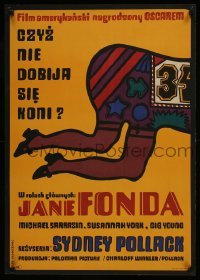 3t737 THEY SHOOT HORSES, DON'T THEY Polish 23x33 1971 Sydney Pollack, different Mlodozeniec art!