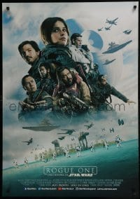 3t004 ROGUE ONE advance DS South American 2016 Star Wars Story, Felicity Jones, top cast montage!