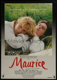3t023 MAURICE Spanish 1987 gay homosexual romance directed by Ivory, produced by Ismail Merchant!