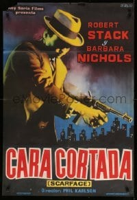 3t024 SCARFACE MOB Spanish 1960 Barbara Nichols, cool art of Robert Stack as Eliot Ness!