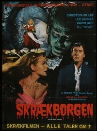 3t031 BLOOD DEMON Swedish 1970 Christopher Lee, Lex Barker, Karin Dor, horror!