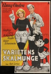 3t034 FAIR PEOPLE Swedish 1930 Anny Ondra as Mickey Mouse by a real unauthorized Mickey!