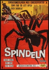3t036 SPIDER Swedish 1958 Bert I. Gordon horror, it MUST eat YOU to live, different art!