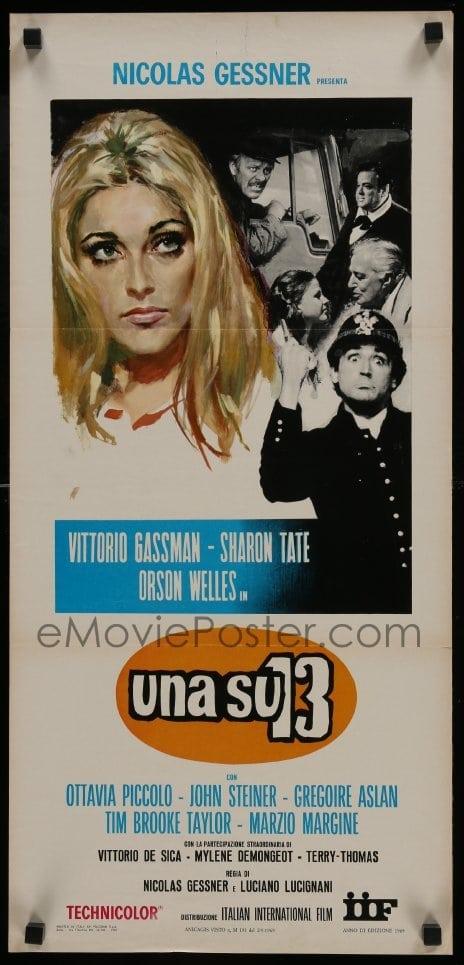 1 Of 1 : 3t987 TWELVE CHAIRS Italian Locandina 1969 Sharon Tate, Orson  Welles, Vittorio De Sica!